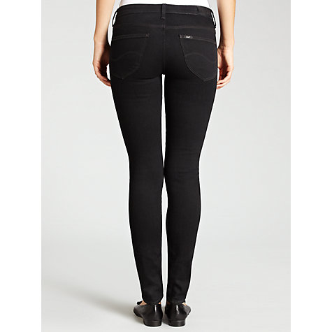 Buy Lee Scarlett Skinny Jeans, Pitch Black Online at johnlewis.com