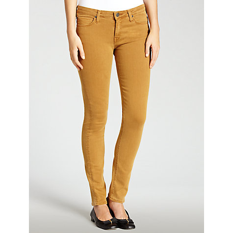 Buy Lee Scarlett Skinny Jeans, Camel Online at johnlewis.com