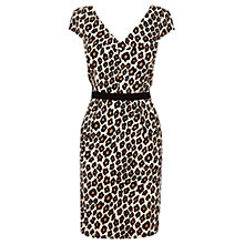 Buy Oasis Flower Animal Print Dress, Multi Natural Online at johnlewis.com