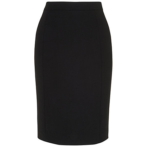 Buy Jaeger Wool Zip Skirt, Black Online at johnlewis.com