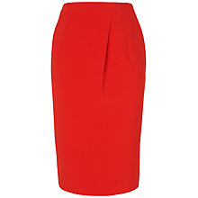 Buy Jaeger Pleated Skirt, Bright Red Online at johnlewis.com