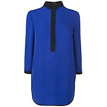 Buy Jaeger Silk Tunic Top, Bright Blue Online at johnlewis.com