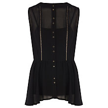 Buy Coast Gretta Blouse, Black Online at johnlewis.com
