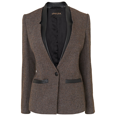 Buy Jaeger Cutaway Jacket, Charcoal Online at johnlewis.com