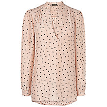 Buy Jaeger Jacquard Spot Blouse, Pale Pink Online at johnlewis.com
