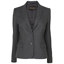 Buy Jaeger Micro Check Jacket, Charcoal Online at johnlewis.com