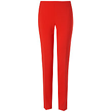 Buy Jaeger Slim Leg Trousers, Bright Red Online at johnlewis.com