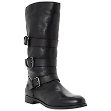 Buy Dune Black Pettie Leather Calf Boots Online at johnlewis.com