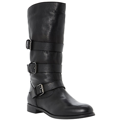 Buy Dune Black Pettie Calf Boots Online at johnlewis.com