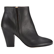 Buy Whistles Lucille Ankle Boots, Black Leather Online at johnlewis.com