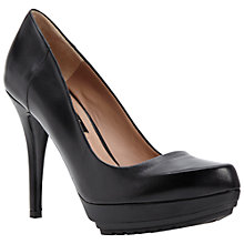 Buy Dune Black Ardon Platform Court Shoes, Black Online at johnlewis.com