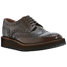 Buy Dune Black Huntington Leather Brogues, Brown Online at johnlewis.com