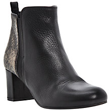 Buy Dune Black Roth Ankle Boots, Black/Snake Online at johnlewis.com