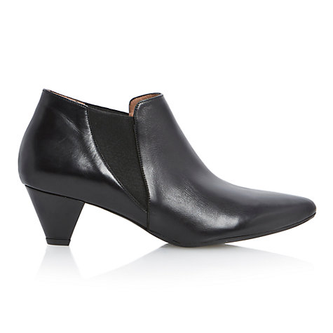 Buy Dune Black Saxe Ankle Boots, Black Online at johnlewis.com