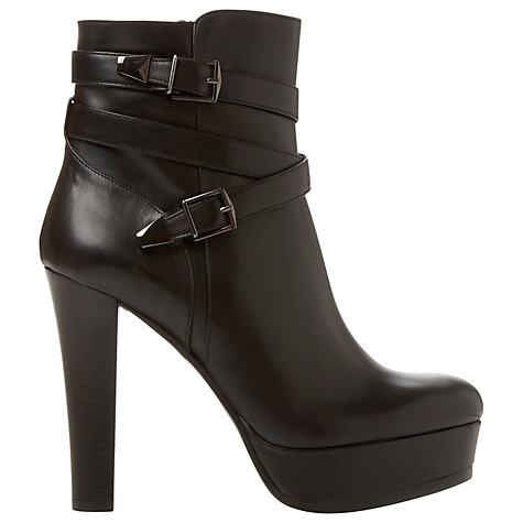 Buy Dune Black Sample Platform Ankle Boots Online at johnlewis.com
