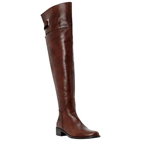 Buy Dune Black Parler Over-the-Knee Leather Boots Online at johnlewis.com