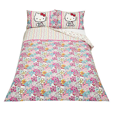 Buy Hello Kitty for Liberty Art Mauvy Motif Duvet Cover and Pillowcase Set Online at johnlewis.com