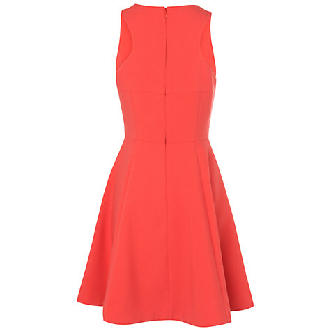 Buy Boutique by Jaeger Racer Back Flared Dress, Bright Orange Online at johnlewis.com