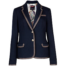 Buy Ted Baker Mider Contrast Trim Jacket, Navy Online at johnlewis.com