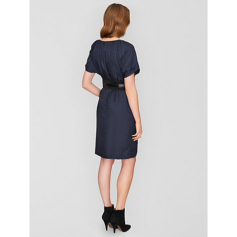 Buy Jaeger Animal Jacquard Dress, Navy Online at johnlewis.com
