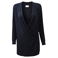 Buy East Jersey Longline Wrap Cardigan, Navy Online at johnlewis.com