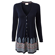 Buy East Border Jacquard Cardigan, Navy Online at johnlewis.com