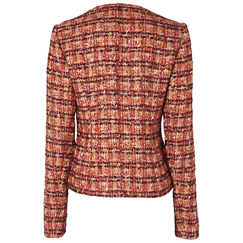 Buy Jaeger Linton Tweed Jacket, Pink Online at johnlewis.com