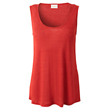 Buy East Linen Longline Vest, Mandarin Online at johnlewis.com