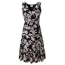Buy East Mahika Print Cotton Dress, Navy Online at johnlewis.com