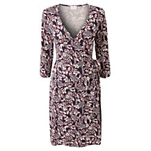 Buy East Zinia Print Wrap Jersey Dress, Navy Online at johnlewis.com