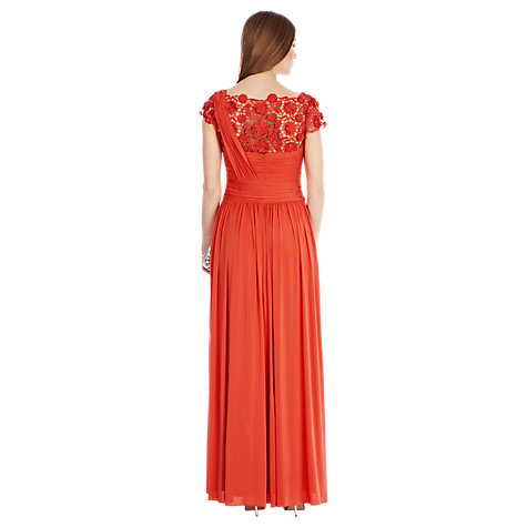 Buy Coast Millie Lace Maxi Dress, Coral Online at johnlewis.com