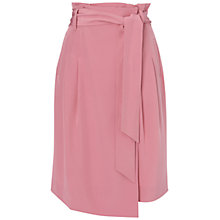 Buy Jaeger Faille Silk Wrap Skirt, Light Pink Online at johnlewis.com