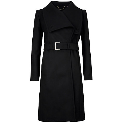 Buy Ted Baker Madigan Draped Front Coat Online at johnlewis.com