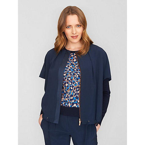 Buy Jaeger Envelope Sleeve Jacket, Navy Online at johnlewis.com