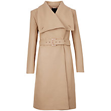 Buy Ted Baker Madigan Draped Front Coat, Camel Online at johnlewis.com