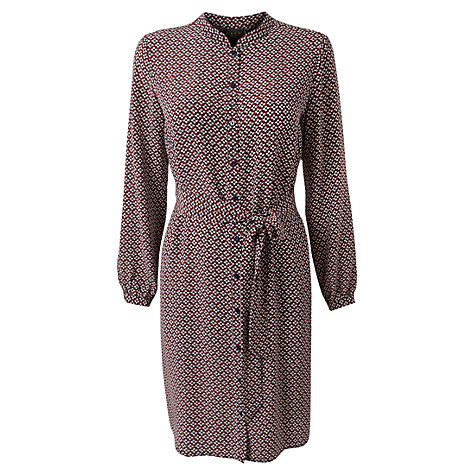 Buy East Lima Silk Shirt Dress, Navy Online at johnlewis.com