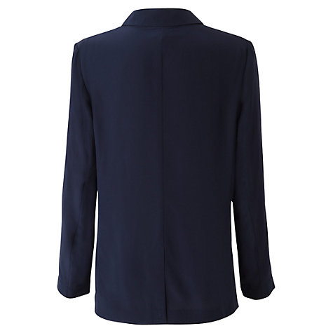 Buy East Washed Silk Jacket, Navy Online at johnlewis.com