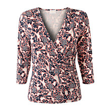 Buy East Zinia Print Top, Light Jutex Online at johnlewis.com