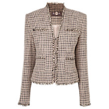 Buy Phase Eight Eva Tweed Jacket, Dusty Pink Online at johnlewis.com