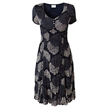 Buy East Clarisa Bubble Dress, Navy Online at johnlewis.com