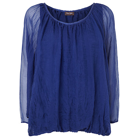 Buy Phase Eight Devany Blouse, Dutch Blue Online at johnlewis.com
