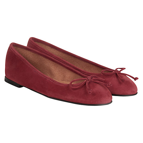 Buy Hobbs London Bea Ballerina Pump Shoes, Red Online at johnlewis.com
