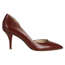 Buy Hobbs London Alana Court Shoes, Red Online at johnlewis.com