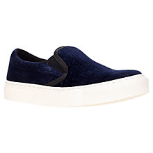 Buy KG by Kurt Geiger Londres Slip On Trainers, Navy Online at johnlewis.com
