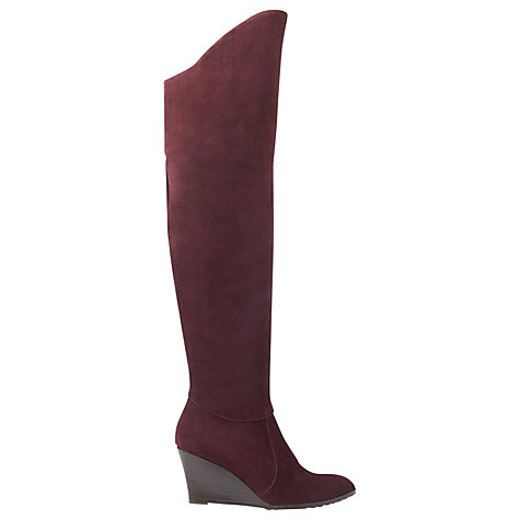 Buy L.K. Bennett Rachel Wedged Knee High Boots Online at johnlewis.com