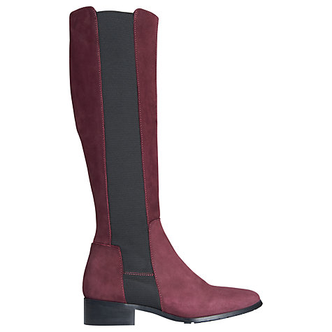 Buy L.K. Bennett Toni Knee Boots, Bordeaux Online at johnlewis.com