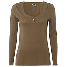 Buy White Stuff Michelle Long Sleeve Top, Khaki Online at johnlewis.com