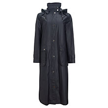 Buy Four Seasons Full Length Funnel Neck Waxed Coat, Midnight Online at johnlewis.com