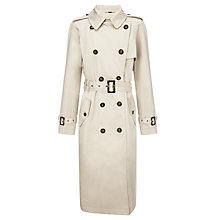 Buy Four Seasons Double-Breasted Knee Length Trench Coat, Neutrals Online at johnlewis.com