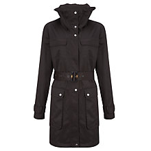 Buy Four Seasons High Neck Fly Fronted Belted Jacket, London Peat Online at johnlewis.com